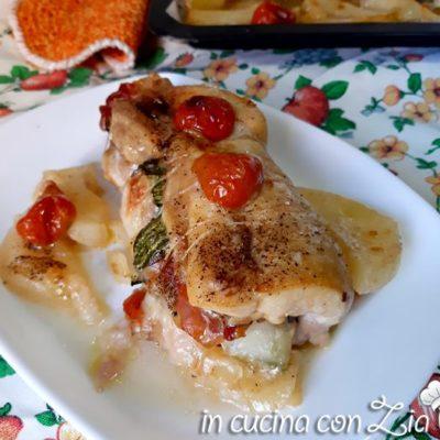 sovra cosce di pollo ripiene al forno