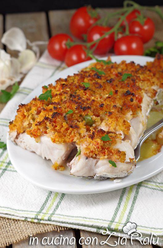 filetti di merluzzo gratinati al forno