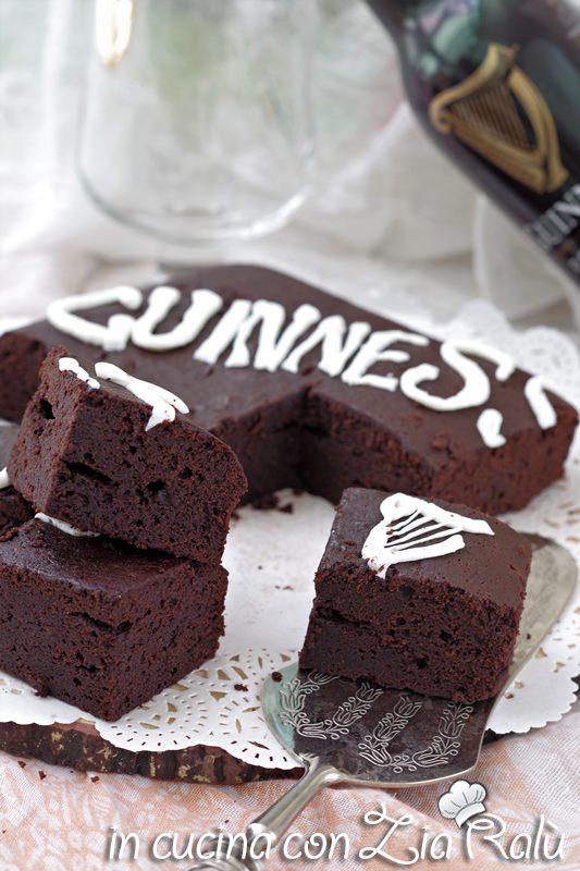 brownies alla guinness ai 2 cioccolati