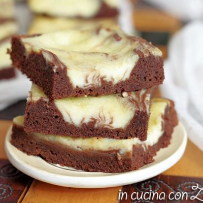 Brownies e mascarpone - Cream cheese brownies