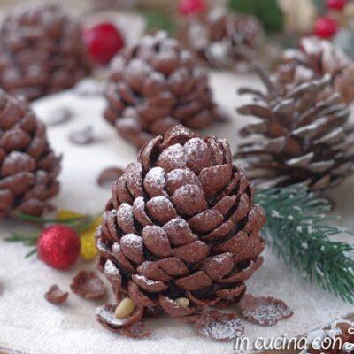 pigne al cioccolato dolci natalizi senza cottura